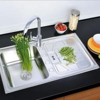 出口东南亚超大水槽 不锈钢水槽 单槽带板洗菜盆 集成洗菜水槽