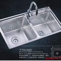 供应厂家供应 厨房水槽双槽 R-7842 不锈钢水槽水槽